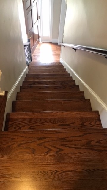 English Chestnut Stain on Red Oak Floors  Pictures Attached