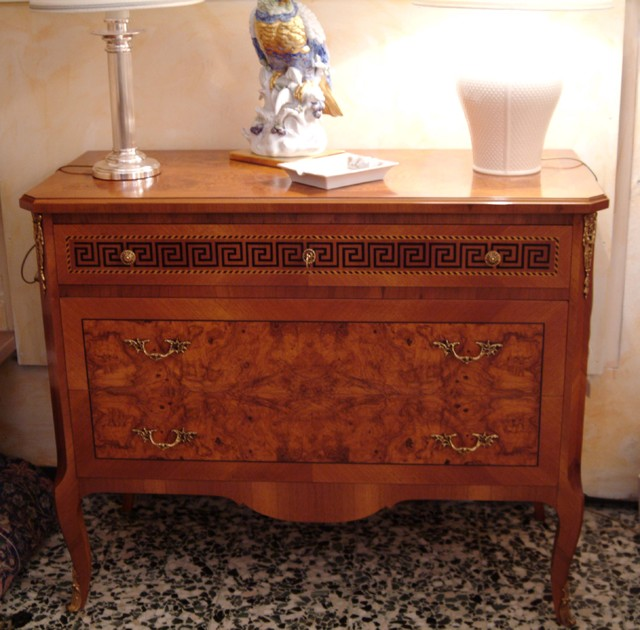 Epoch style side tables chest of drawers and bedside
