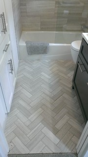 "Bathroom - 12"" x 24"" Valentino Gray Marble Walls / Floor ..."