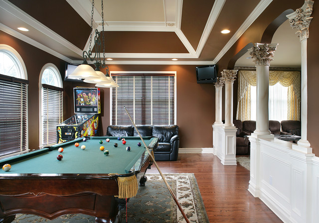 Game Room Traditional Family Room New York By