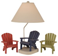 Adirondack Chair Table Lamp - Beach Style - Table Lamps ...