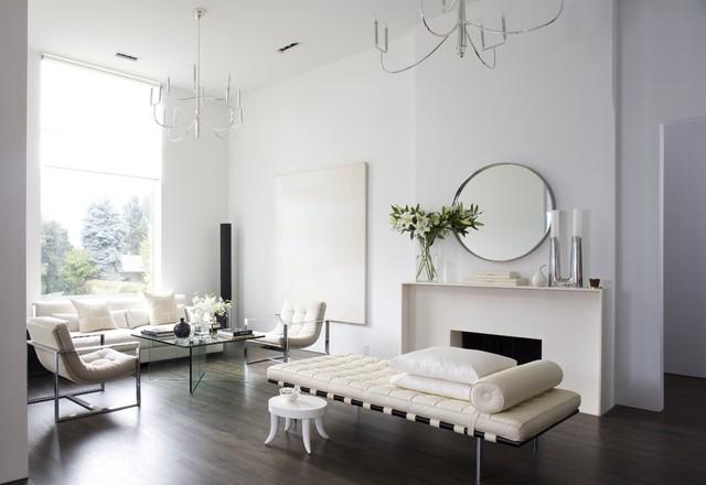 Beautiful Minimalist Home Modern Living Room Denver