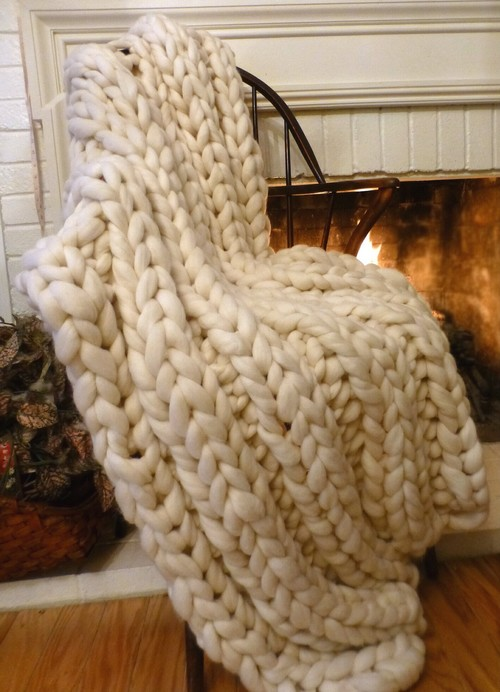 Our Products in Homes-Chunky Blanket