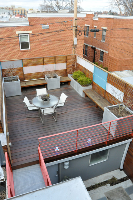 Capitol Hill Row House Asian Patio DC Metro By CM