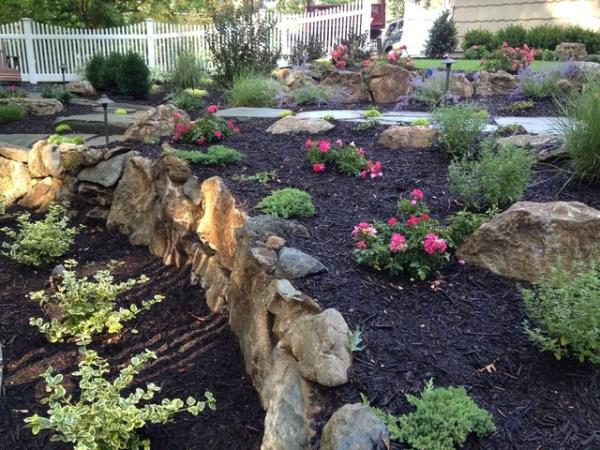 moss rock boulders. south huntington