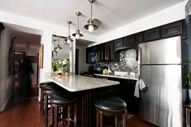 My Houzz Classic Black and White Design in a Chicago