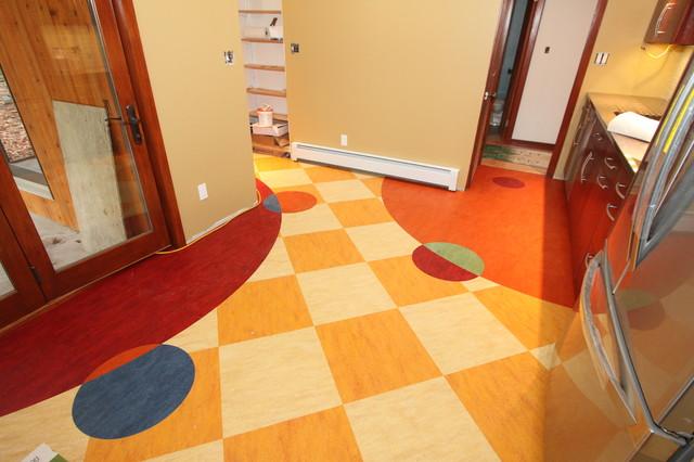 Custom Linoleum Kitchen Floor Eclectic Kitchen Other
