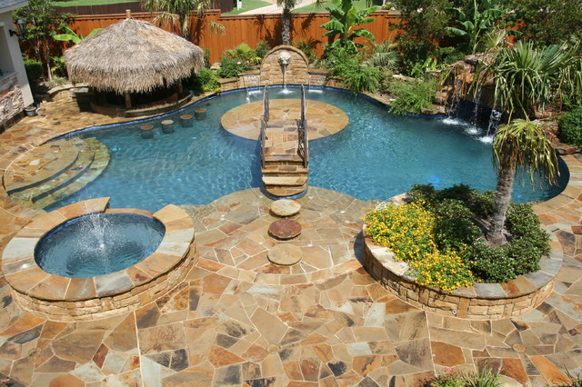 Back Pool Yard Tropical Forty Foot