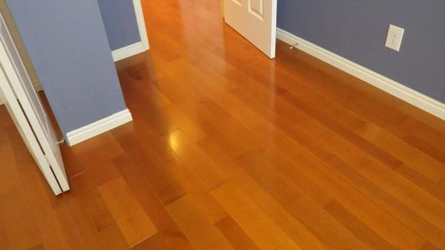 Cherry stained Maple floor  Traditional  Bedroom  Salt
