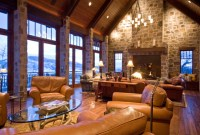 European Mountain Home - Rustic - Living Room - Other - by ...