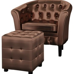 Leather Tub Chair Swing Mamas And Papas Vidaxl Artificial Armchair With Footrest Brown Armchairs Accent Chairs By