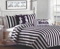 Navy & White Cabana Striped Bedding Set