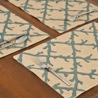 Blue Coral Lattice Place Mats - Tropical - Placemats - by ...
