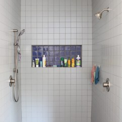 Living Room Recessed Lighting Gray Furniture In Modern Walk Shower