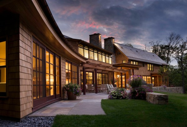 vermont lake house - rustic exterior