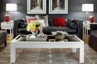 Jane Lockhart Gray/Red Living room