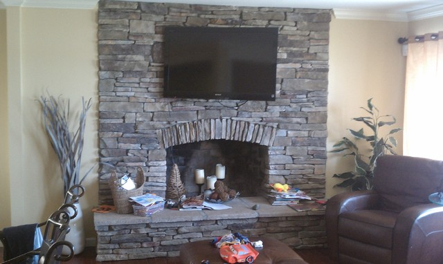 Boral Cultured Stone  Southern Ledgestone  Traditional  Family Room  Detroit  by Brighton