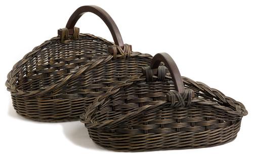 Wicker Gathering Basket, Small