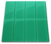 Emerald Glass Subway Tile - Modern - Tile - by Subway Tile ...