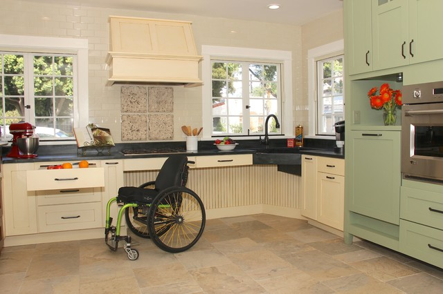 English Country Accessible Kitchen