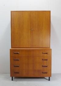 Teak Kommode mit Schubladen von DeWe, 1960er - Bauhaus ...