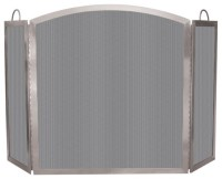 Folding Tri-Fold Stainless Steel Fireplace Screen ...