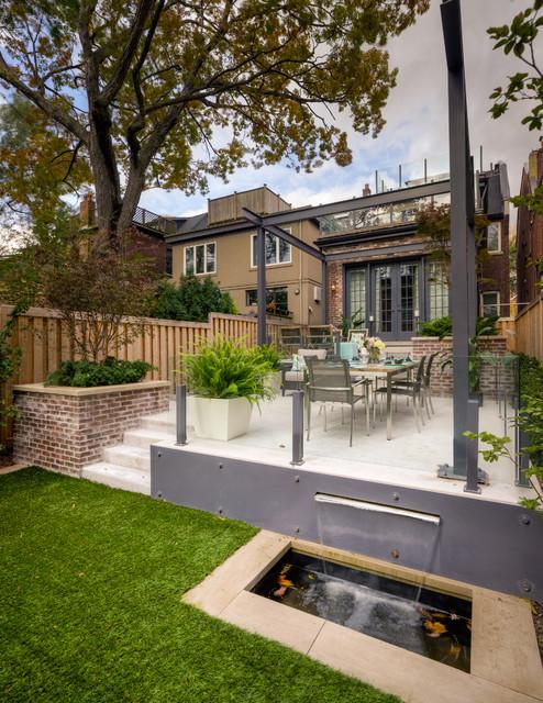 tiered contemporary urban garden