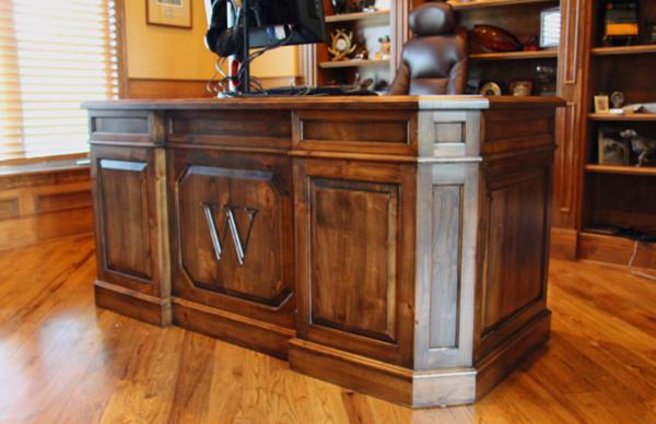Custom Executive Desk  Traditional  Home Office  denver  by Haak Designs LLC