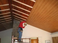 Plank Ceiling - Traditional - Family Room - other metro ...