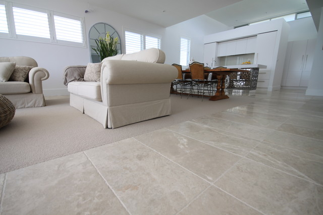 Cashmere Marble Flooring  Contemporary  Living Room  Sydney  by Amber Tiles Australia
