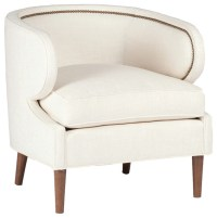 Gabby Monroe Curved Back Chair, Gray Zulu Feather ...