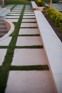 Concrete Squares and Bench - Modern - Landscape - Salt ...