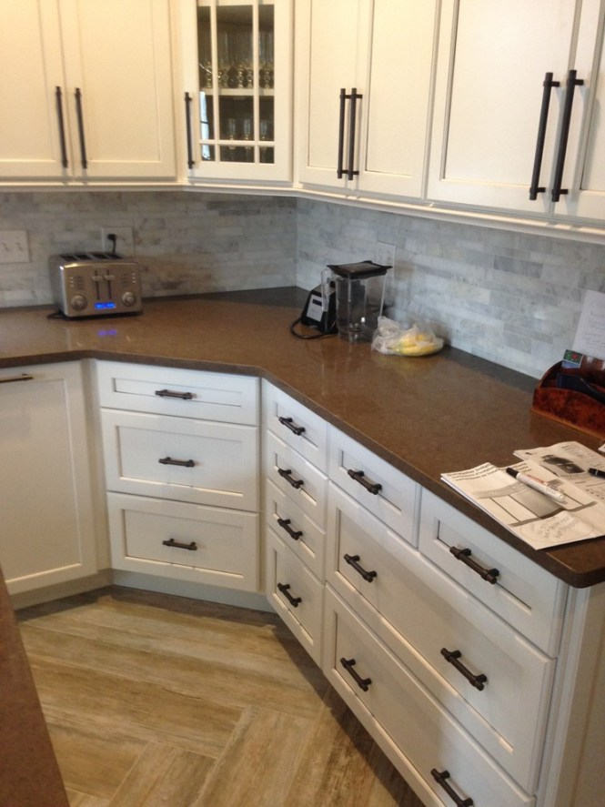Dove White With Cocoa Glaze Cabinets | Cabinets Matttroy