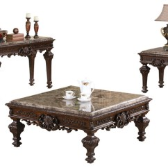 3 Piece Table Set For Living Room Contemporary Furniture Traditional Victorian Coffee Sets By Import Export Inc