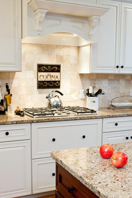 New Venetian Gold Granite Countertops  Traditional  Kitchen  Boston