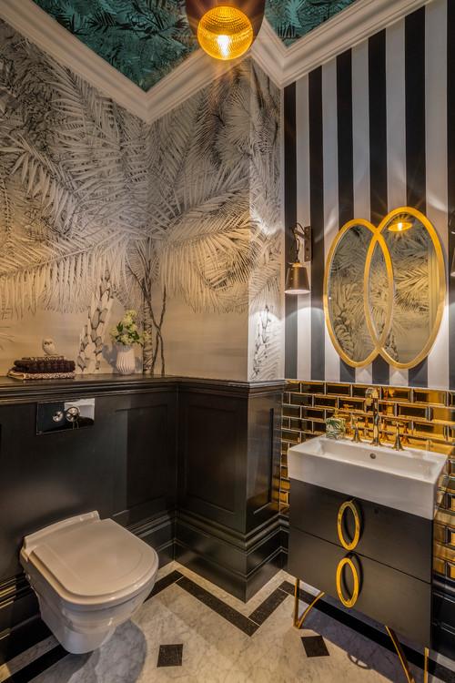 Black & Gold Bathroom