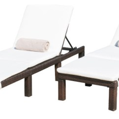 Cushions For Teak Steamer Chairs Bedroom Chair Aldi Gdfstudio Estrella Outdoor Wicker Adjustable Chaise Lounge With Cushions, Set Of 2 ...
