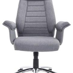 Office Chair Fabric Peacock For Sale Homcom High Back Executive Contemporary Light Gray