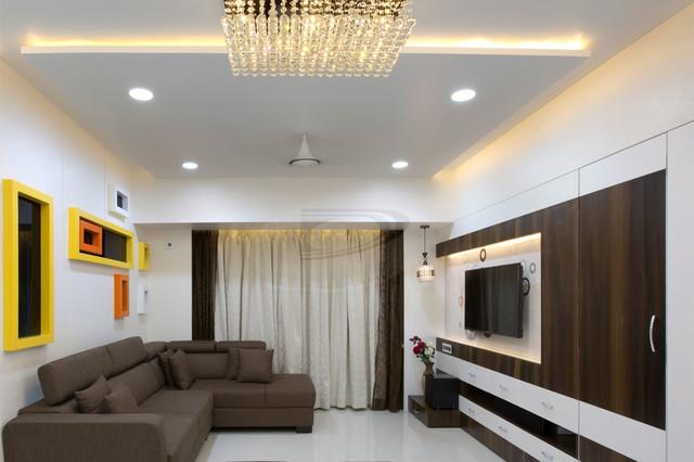 2BHK FLAT INTERIOR IN NERUL NAVI MUMBAI Modern Dining Room