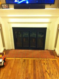 What tile to use in front of fireplace?