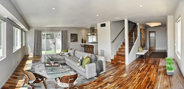 MidCentury Modern Open Concept Entry Living Room and
