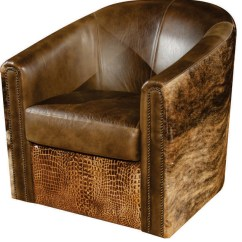 Tub Accent Chair Recliner And Stool Rustic Swivel Southwestern Armchairs Chairs By Artistic Leathers