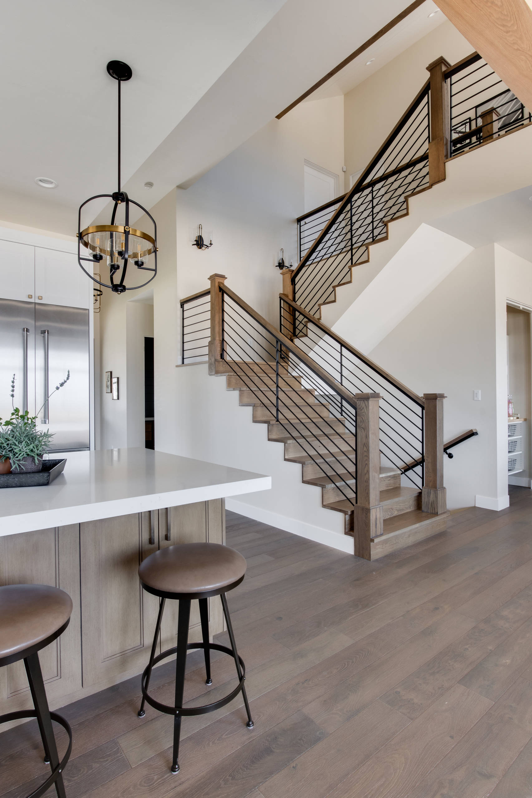 75 Beautiful U Shaped Staircase Pictures Ideas Houzz