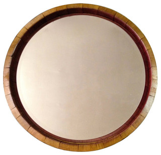 Inverted Wine Barrel Mirror