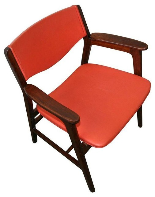 wh gunlocke chair x back dining chairs used w h in red vinyl modern office by chairish