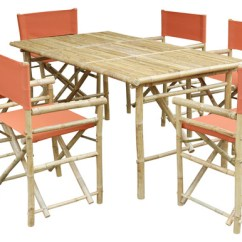 Bamboo Directors Chairs Lounge Chair Target Set Of Rectangular Table 6 Director Outdoor Dining Sets By Zero Emission World