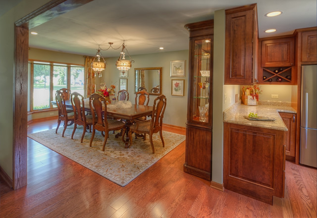 Convert one car garage into dining room  Traditional