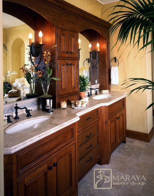 Santa Barbara Style Bath  Mediterranean  Bathroom  Santa Barbara  by Maraya Interior Design