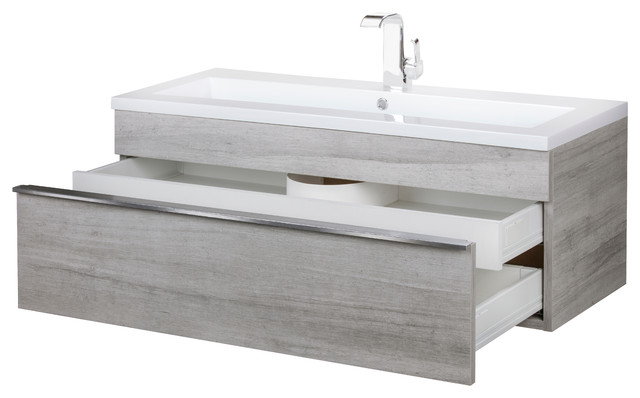 trough collection 42 wall mount modern bathroom vanity