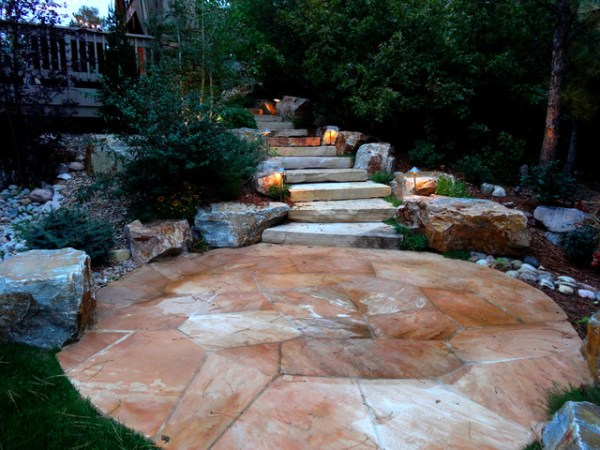 naturalistic landscape with flagstone